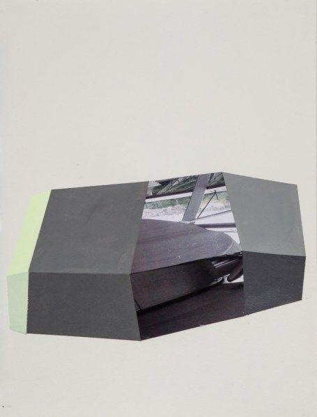 Antonietta Grassi . Berlin 2015, acrylic and digital print on paper, 40 x 24 inches, 2015-2016