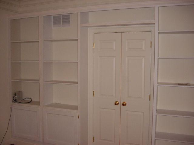 library, shelves over doorway