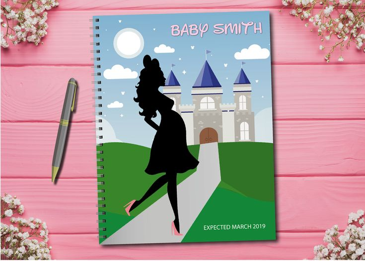 Personalized pregnancy journal with planned pages – Disney, Castle, Mickey, Minnie, Mo …   – Pregnancy Journals