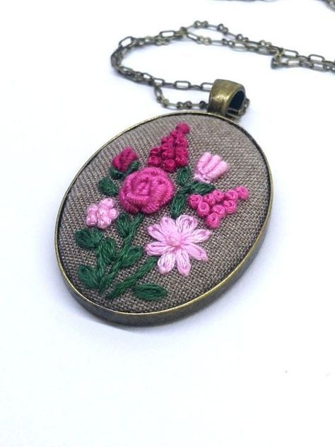 Flower Hand Embroidered Jewelr |