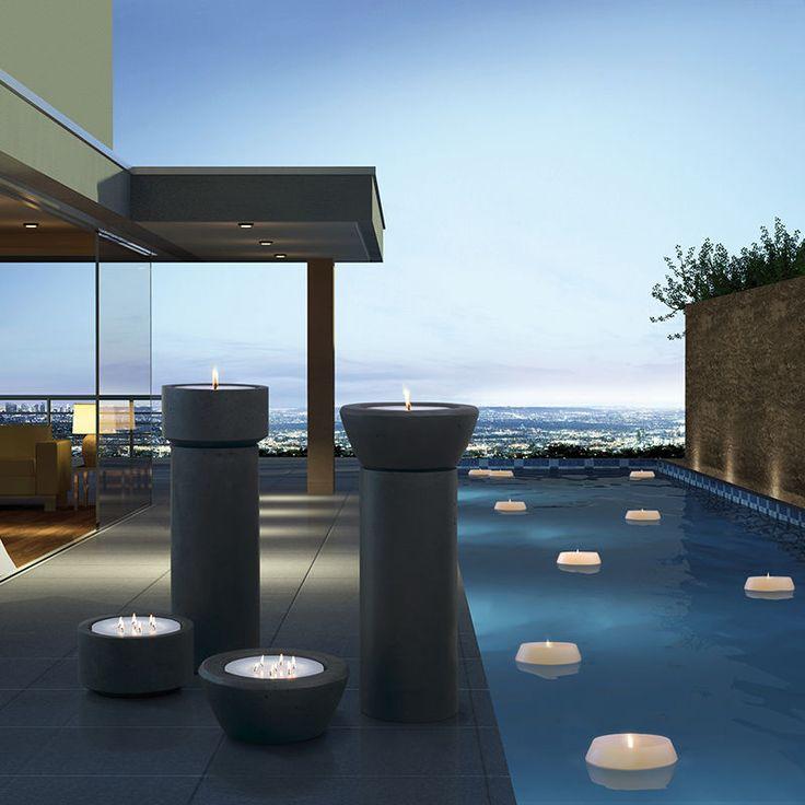 top3 by design - Engels Kerzen - finca outdoor swimming candle medium