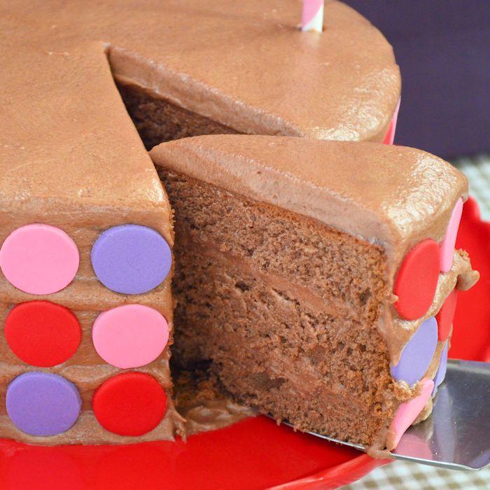 choco stippen taart uitgelicht