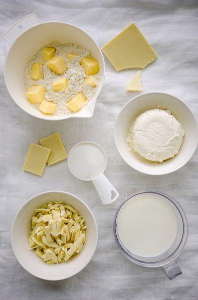 White ingredients #white #ingredients #cooking #kissthecook #chocolate #butter #flour #cheese #milk Tartă cu ciocolată albă și fructe - KissTheCook
