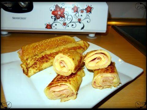 Receta de Crepes Rellenos de Jamón y Queso Monsieur Cuisine Lidl Silvercrest - YouTube