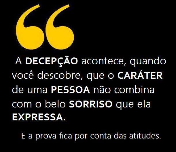 Post Fala Sério! : DECEPÇÃO !
