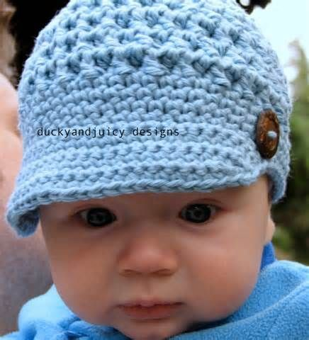 Crochet Baby Newsboy Hat - Baby Boy Hat - Baby Girl Hat - Newsboy Cap ...