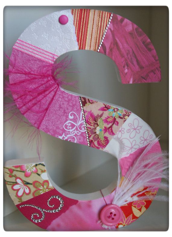 Nursery letters custom initials Custom wooden by SpendLifeLiving, $40.00 www.facebook.com/howtoSpendLifeLiving!!