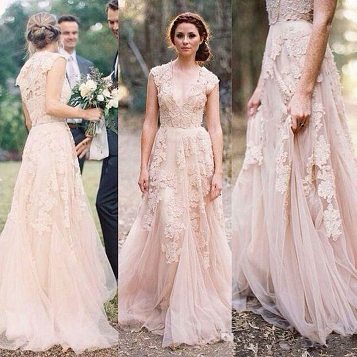 17 Best ideas about Pink Wedding Dresses on Pinterest | Princess ...