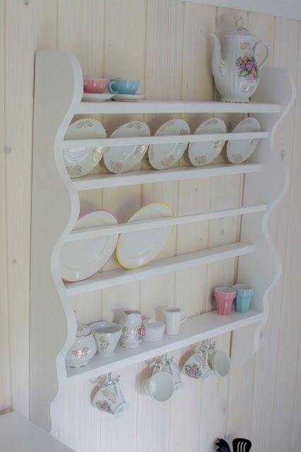 DIY plate shelf