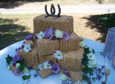 Love this....and it is so do-able! A grass decorating tip and light brown icing.....and patience to cover the cakes!!
