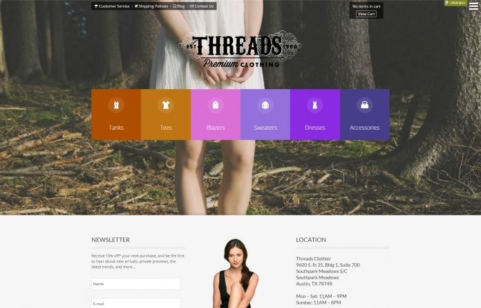 Threads - bold & sophisticated responsive #Joomla 3 #template focused on #clothing.