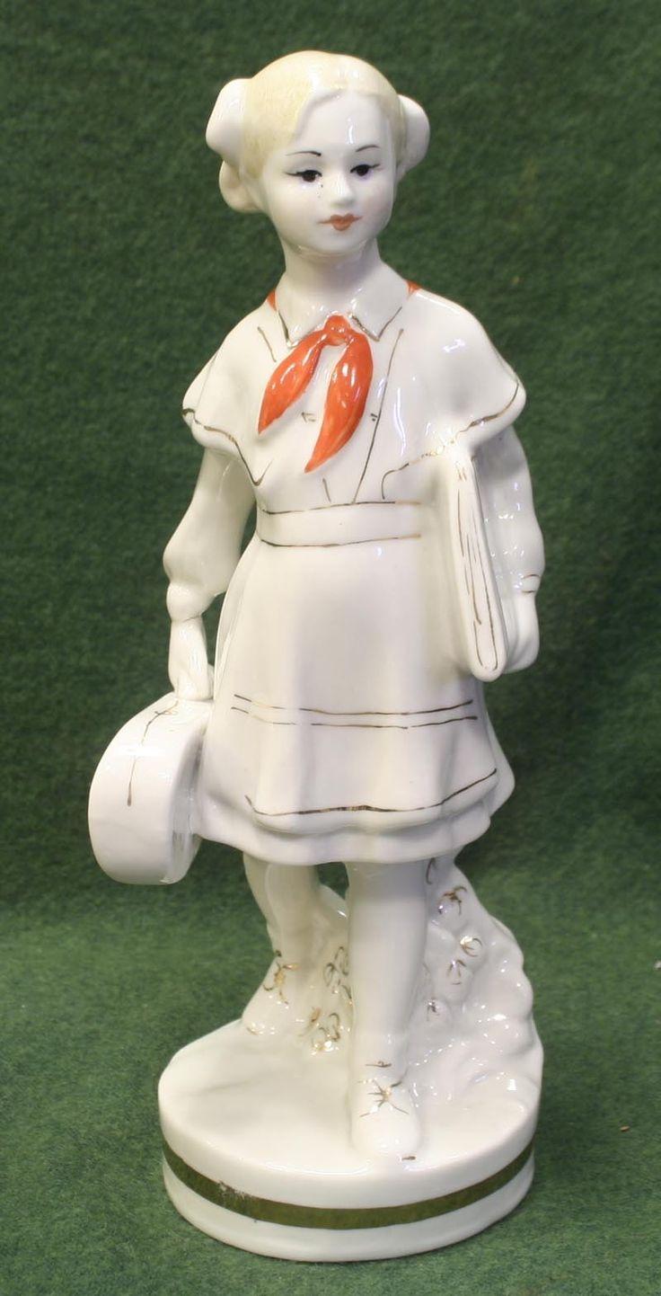 RARE Russian Soviet Porcelain Figurine Pioneer Girl with A Violine 1957 | eBay