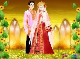 Hasil gambar untuk anumasi muslim menikah