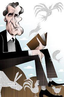 Miguel Torga, caricatura de Vasco Gargalo