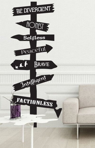 Divergent inspired road sign wall Decal Fantasy by JobstCo on Etsy