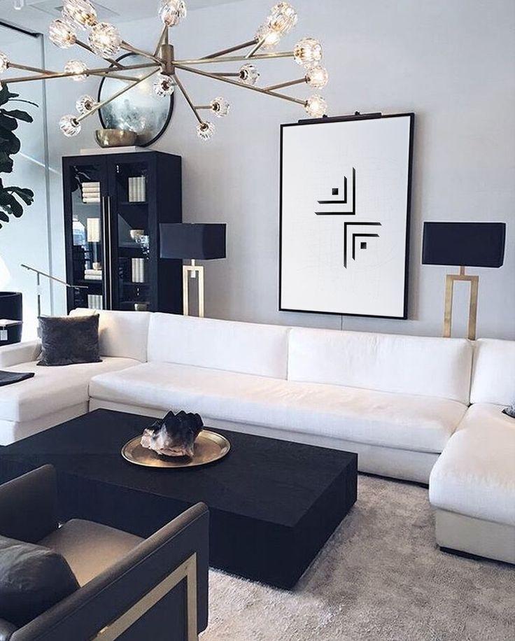 Black Lines Art Print Black And White Print Geometric Print Home Decor Offic Black And White Living Room Black Living Room White Living Room