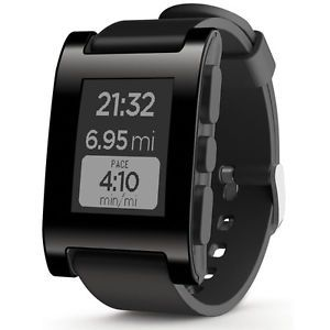 a pebble smartwatch for iphone or android black