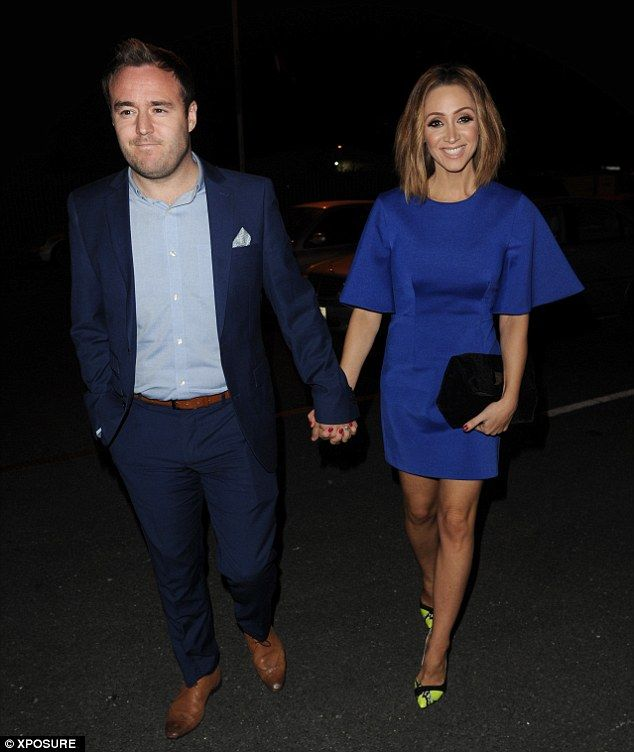 Takign a break from Corrie: Other guests included Corrie's Alan Halsall and his wife, Lucy...
