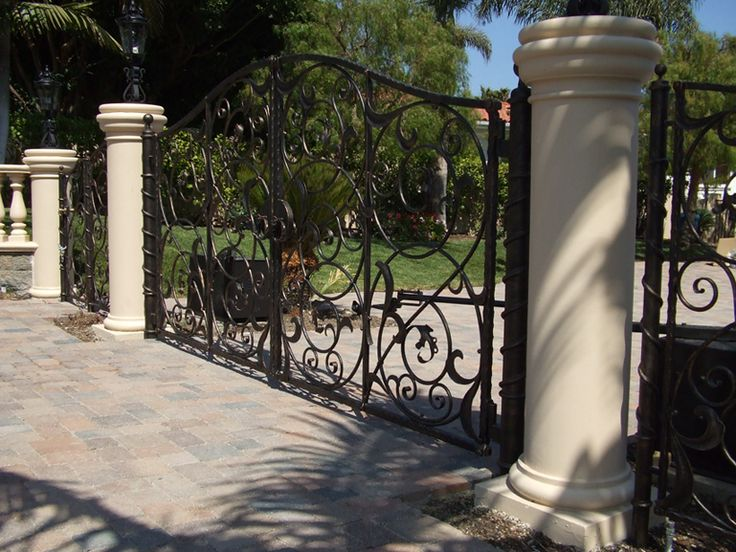 Best custom wrought iron gates images on pinterest