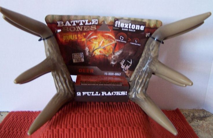 Flextone Game Calls Battle Bones Rattler Racks Hunting Deer Antlers Scent Free #Flextone