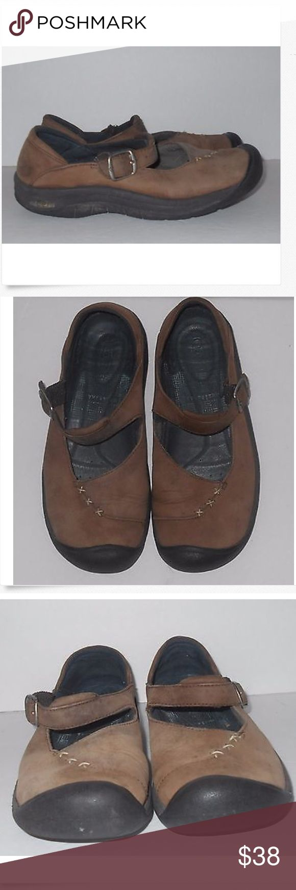 Keen Brown Suede Mary Jane Shoes Women's size 7 Keen Brown Suede Mary Jane Shoes. Women's size US 7, UK 4.5, EU 37.5. They have some wear but a lot of live left in them Keen Shoes