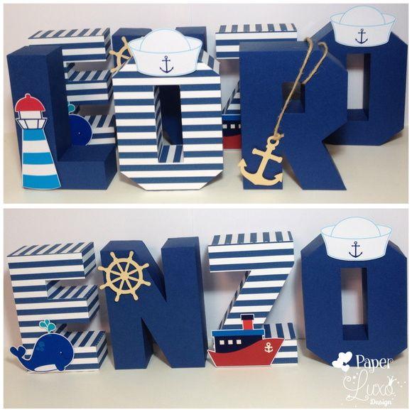 Letra 3D marinheiro