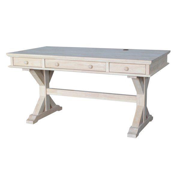 Cheever Solid Wood Desk Executive Desk Solid Wood Desk Desk