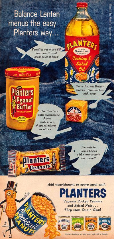 1958 Planters vintage brand advertising