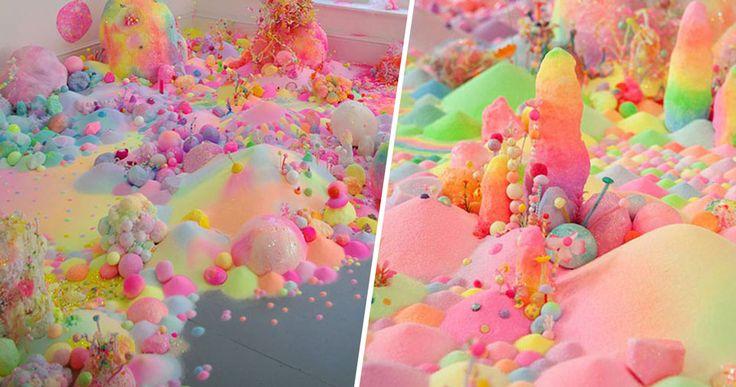 Tanya Schultz , Austr. sculptures et installations en bonbons