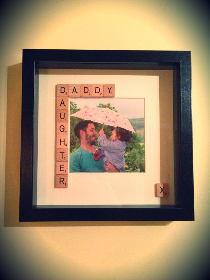 Father S Day Daddy Daughter Scrabble Tile Frame Box
