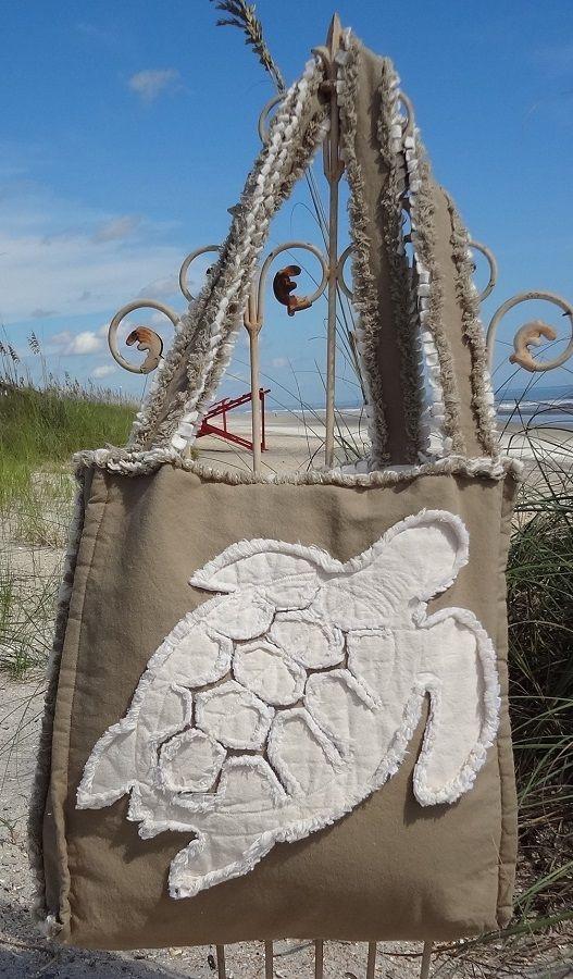 Sea Beach Bag - Sea Turtle Ivory on Khaki