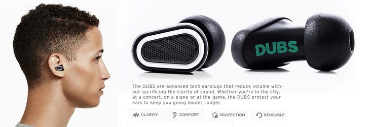 A really cool gift for anyone who attends live music or is exposed to loud noise frequently. The DUBS are earplugs that filter rather than muffle noise. They bock specific frequencies which lowers noise by 12 decibels. Such a great gift for just $25 (available in teal, blue, white and pink colorways). #holidaygifts #tech #earprotection #musicians #audio