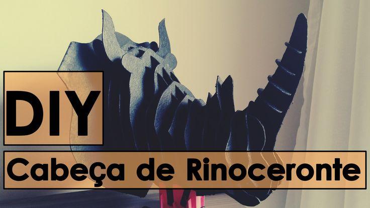 DIY - Cabeça de Rinoceronte