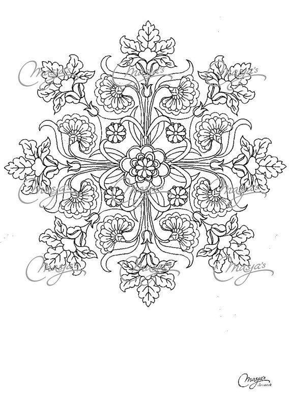 Masjas Mandala Coloring Page #6 made by Masja van den Berg ...