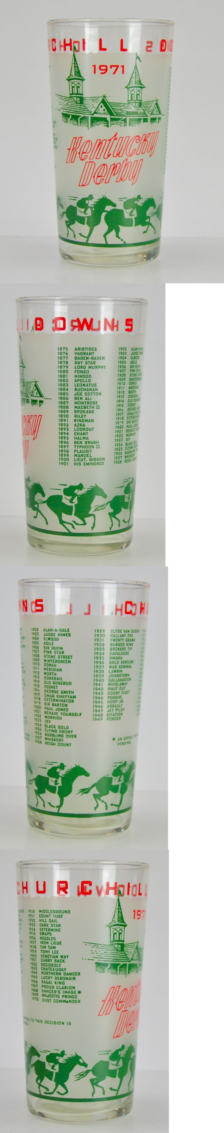 Horse Racing 429: 1971 Official Ky Kentucky Derby Mint Julep Glass Horse Racing Churchill Downs -> BUY IT NOW ONLY: $41.5 on eBay!