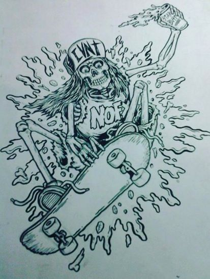 #illustration #skate #NOFX