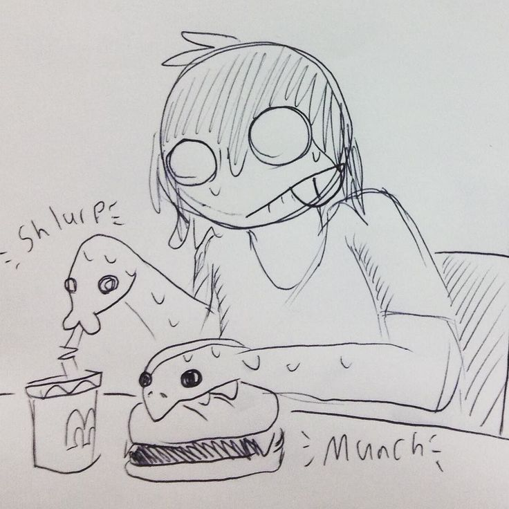 """My anaconda don't want none if you ain't got buns Hun"" #sketch #class #doodles #snakehands #mcdonalds #food #burger #soda #hungry #eating #pazuzu810 #xedouteyes #snake #feed #art"