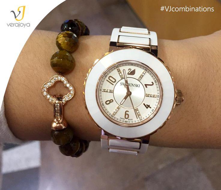 Combinación #pulsera VJ con #reloj de #Swarovski