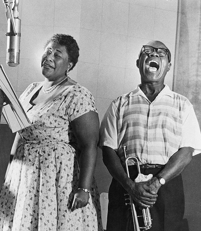"""Ella Fitzgerald and Louis Armstrong together and especially their """"Porgy&Bess"""" album."""