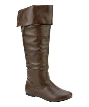 Look at this #zulilyfind! Brown Vickie Flat Boot by Nature Breeze #zulilyfinds