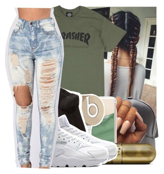 """Girl is Mine "" by swavenation-n-trapsoul ❤ liked on Polyvore featuring Casetify, Beats by Dr. Dre, Wolford and NIKE"