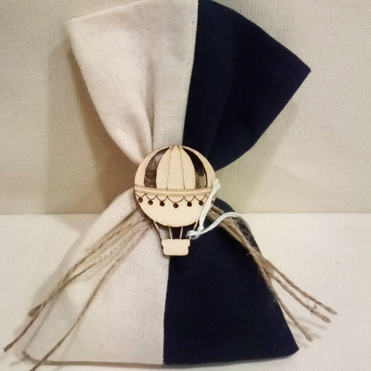 #pouch for #baptism with #wooden #airballoon