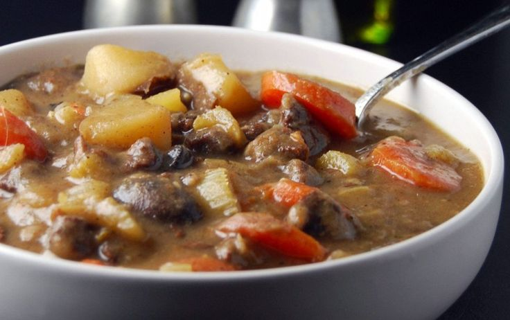 "Enjoy this vegan Irish ""lamb"" stew that's packed with filling protein and veggies!"
