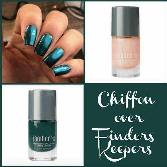 Chiffon lacquer is like magic! It instantly converts any color into a metallic! heathermccarl.jamberry.com