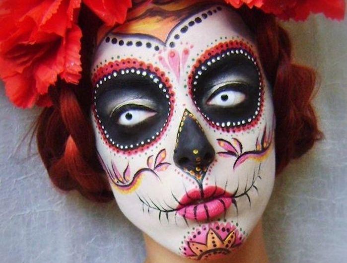 Les 25 meilleures id es de la cat gorie maquillage mexicain sur pinterest jour de maquillage - Maquillage halloween mexicain ...