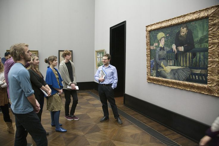 Class trip Berlin's Alte Nationalgalerie led by faculty member Geoff Lehman