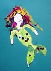 Mermaid Craft With Template From The Best Kids Book Site
