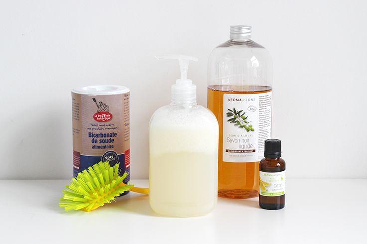 Super recette facile et rapide de liquide-vaisselle naturel fait maison - by Mango and Salt