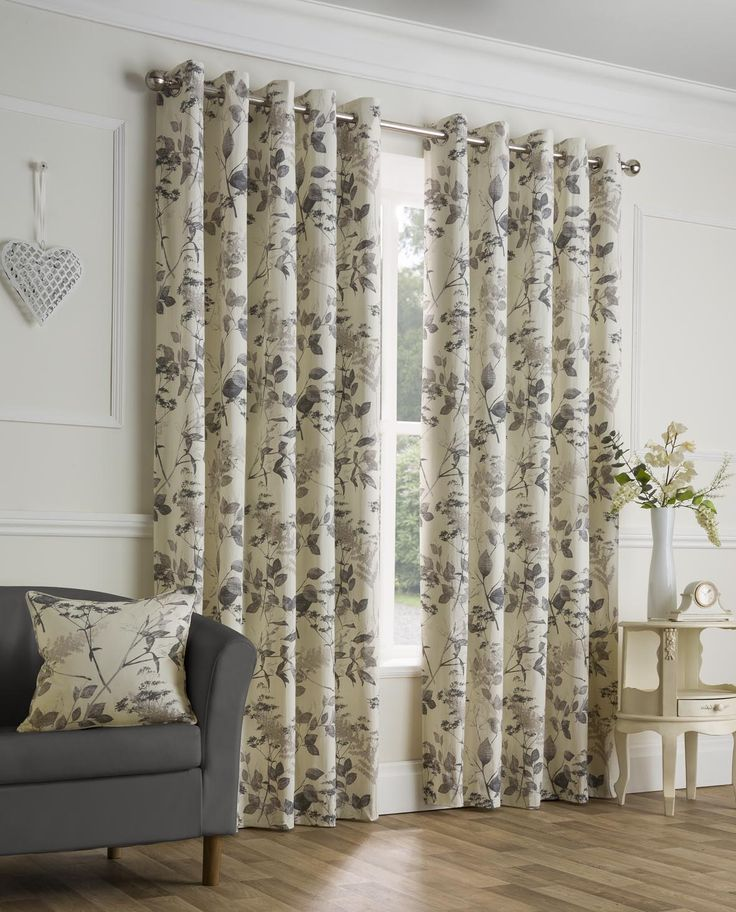 Rushmere Charcoal Ready Made Eyelet Curtains | Harry Corry Limited