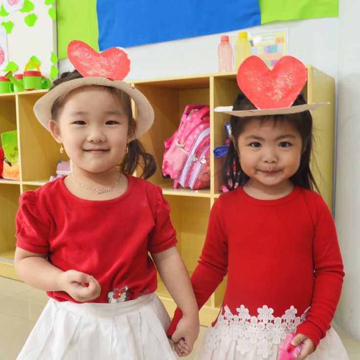 Heart hat for Indonesian independence day celebration